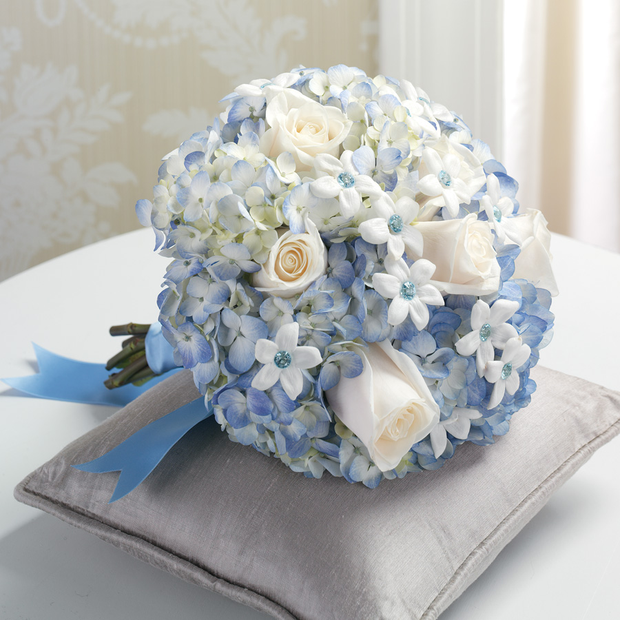 Beckys flowers blue bridal bouquet izmirmasajfo
